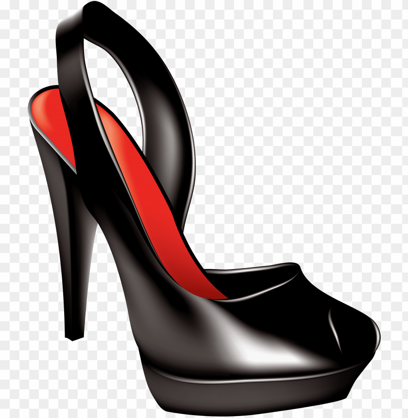 free PNG Download black women shoe clipart png photo   PNG images transparent