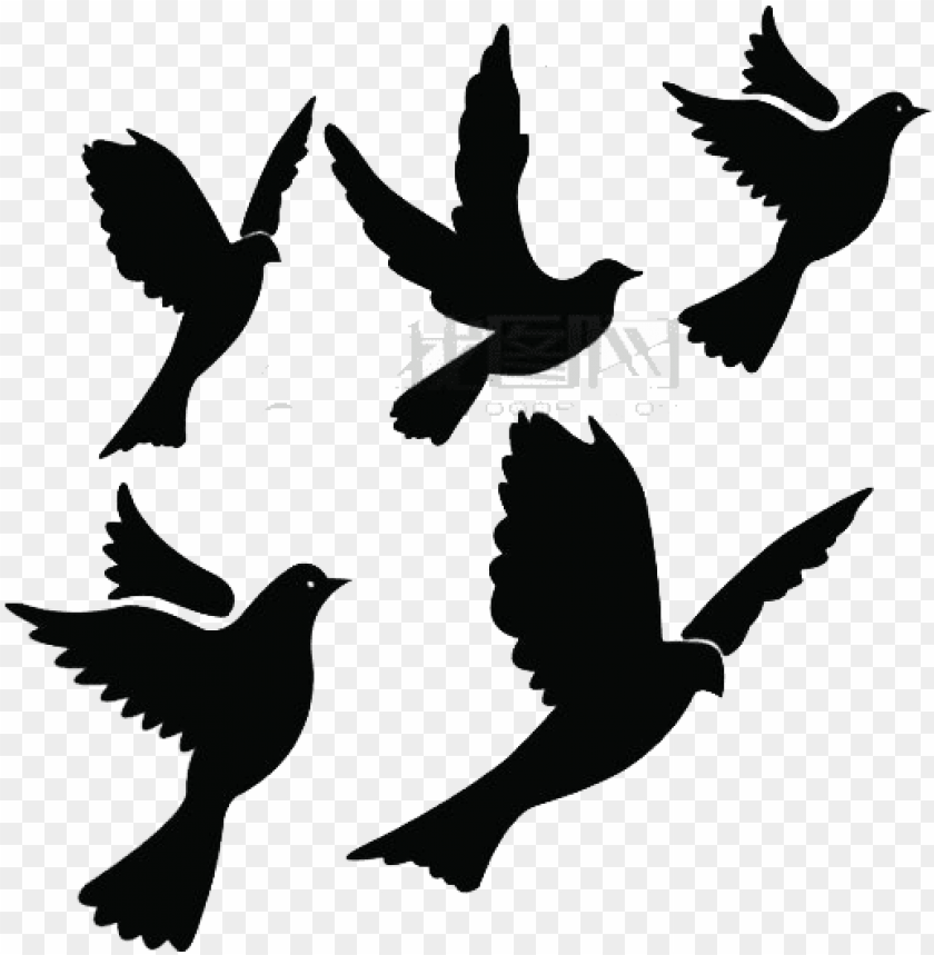 free PNG blackbird clipart flying dove - free bird silhouette flyi PNG image with transparent background PNG images transparent
