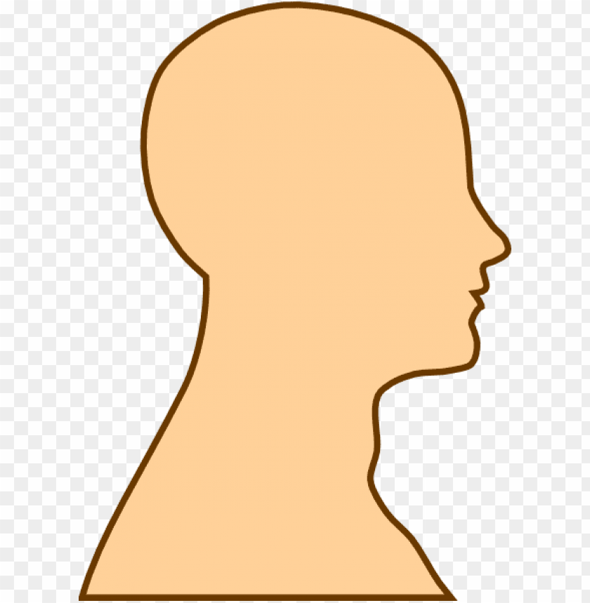 free PNG blank face silhouette clipart - side view face clipart PNG image with transparent background PNG images transparent