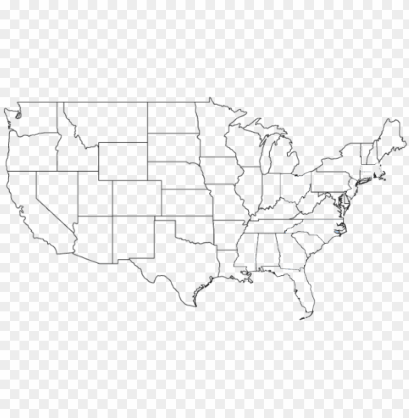Us Map No Background blank map usa 50 states PNG image with transparent background | TOPpng