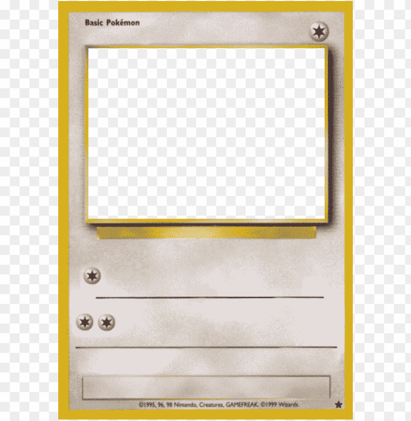 free PNG blank pokemon card template best photos of pokemon - old pokemon card template PNG image with transparent background PNG images transparent