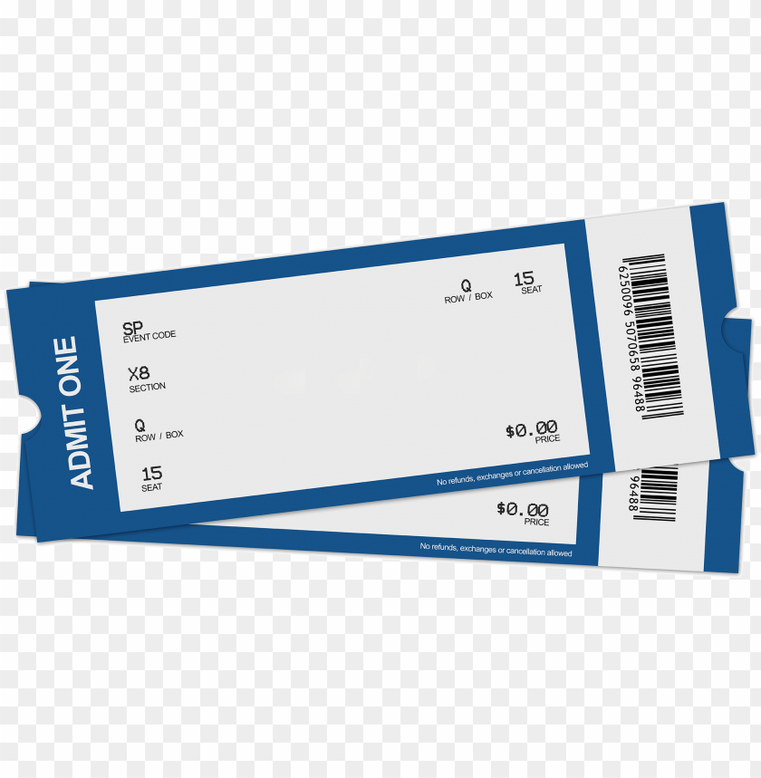 free PNG blank ticket clipart - blank concert ticket PNG image with transparent background PNG images transparent