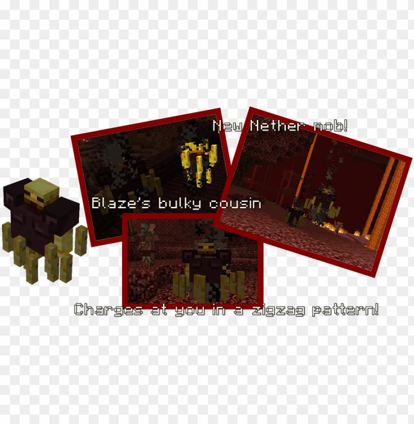 free PNG blaze powder, blaze rod - minecraft primitive mobs trollager PNG image with transparent background PNG images transparent