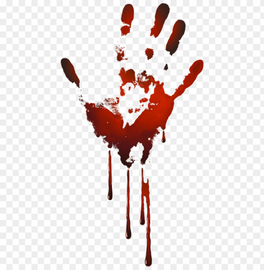 Download Bloody Handprint Png Images Background Toppng