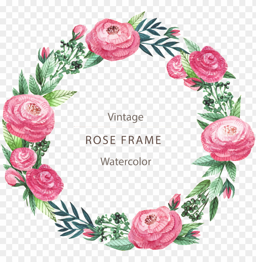 free PNG blooming beautiful flowers hand painted garland decorative - floral frame PNG image with transparent background PNG images transparent