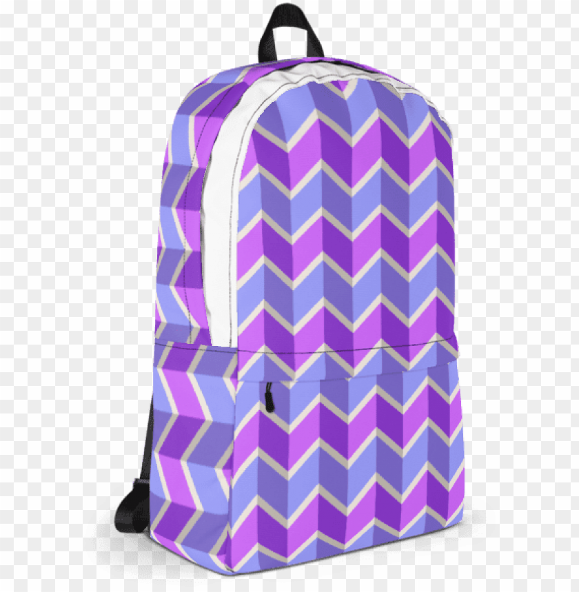 free PNG blue and purple chevron pattern backpack - cheese backpack PNG image with transparent background PNG images transparent