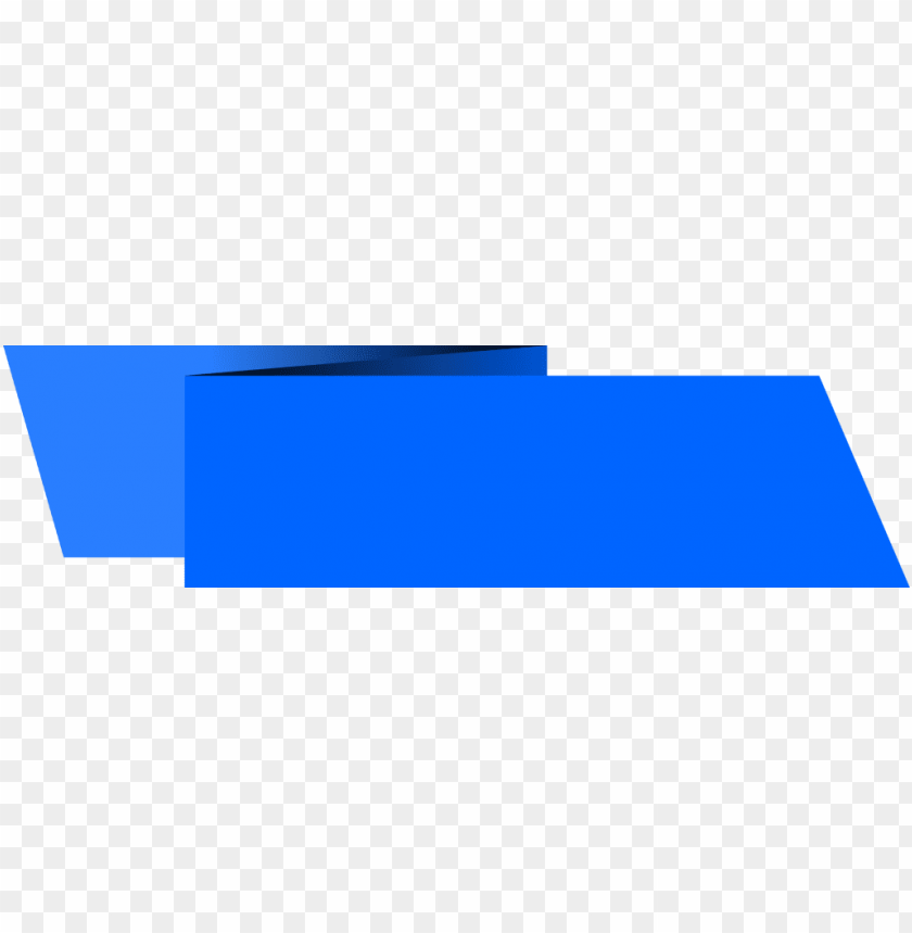free PNG blue banner png - origami banner rectangle PNG image with transparent background PNG images transparent