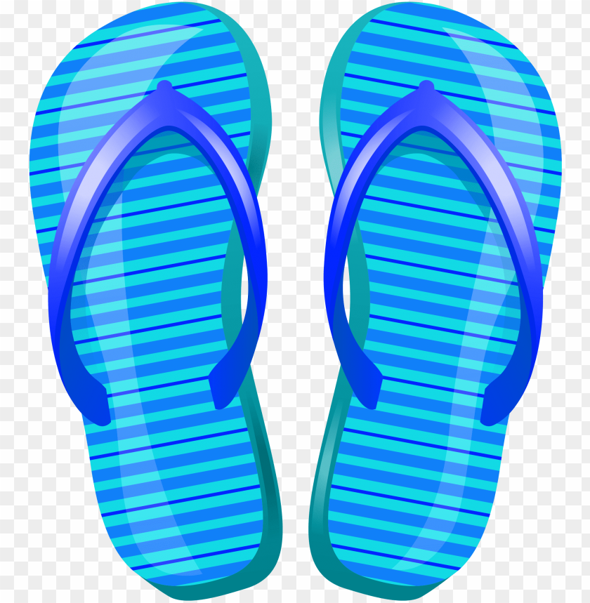 free PNG blue beach flip flops png vector clipart - beach sandals clipart PNG image with transparent background PNG images transparent