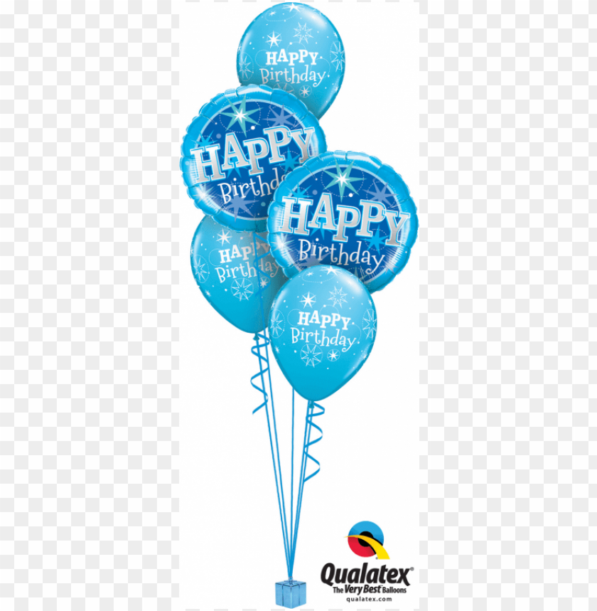 free PNG blue birthday classic balloon bouquet birthday party - happy 13th birthday balloons PNG image with transparent background PNG images transparent