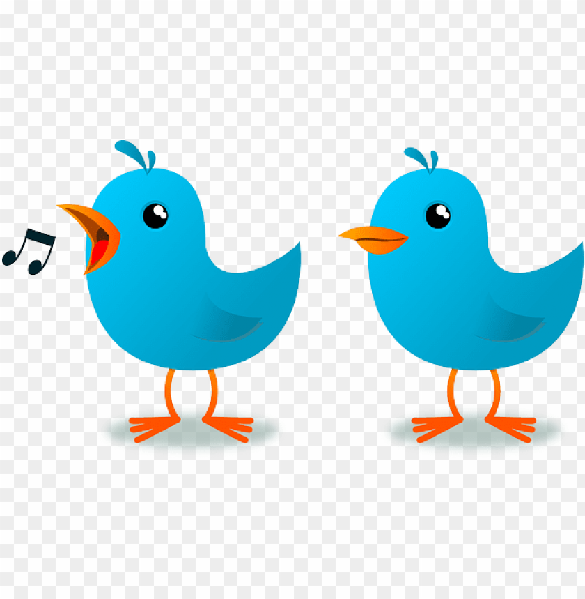 free PNG blue cartoon birds vector symbol of twitter free psd - 2 little dicky birds clipart PNG image with transparent background PNG images transparent