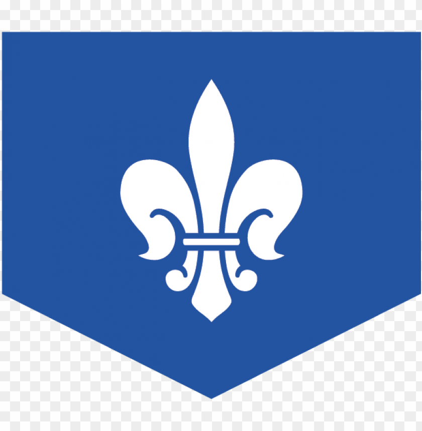 free PNG blue flag with a black, medieval fleur de lis design - medieval times blue knight symbol PNG image with transparent background PNG images transparent