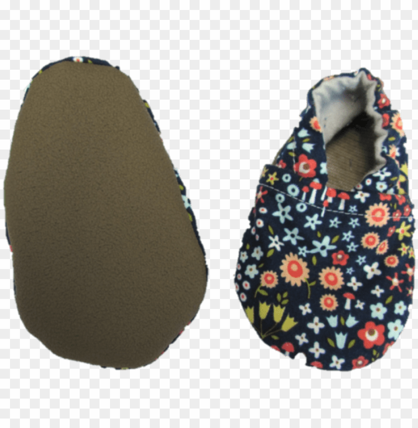 free PNG blue floral baby shoes - ballet flat PNG image with transparent background PNG images transparent