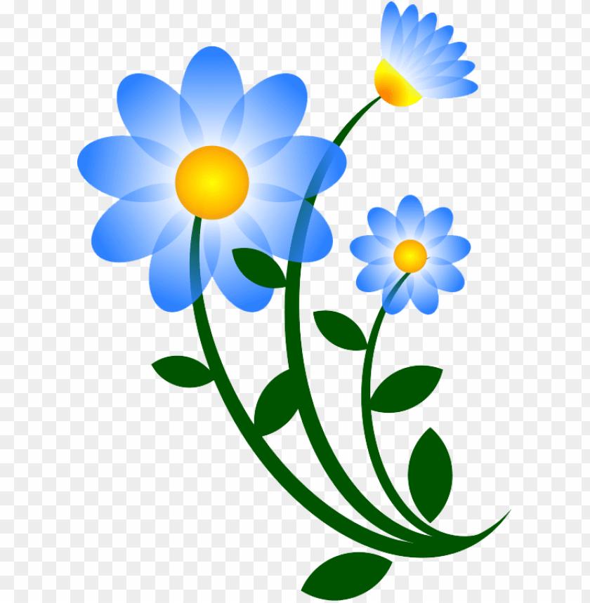 free PNG blue floral clip art, children watercolor flower, floral - flowers clip art vector PNG image with transparent background PNG images transparent