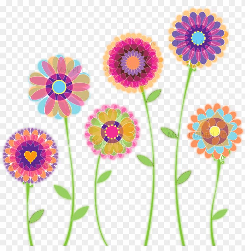 free PNG blue floral clip art, children watercolor flower, floral - spring flower clipart free PNG image with transparent background PNG images transparent