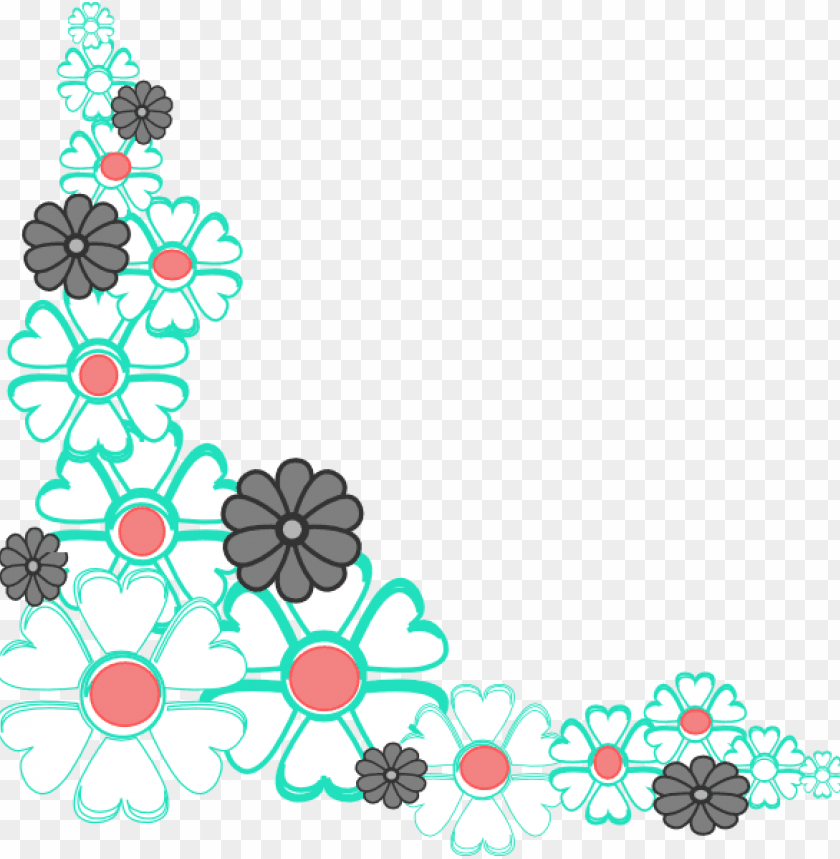 blue flower clipart corner floral floral corners vectors png image with transparent background toppng blue flower clipart corner floral