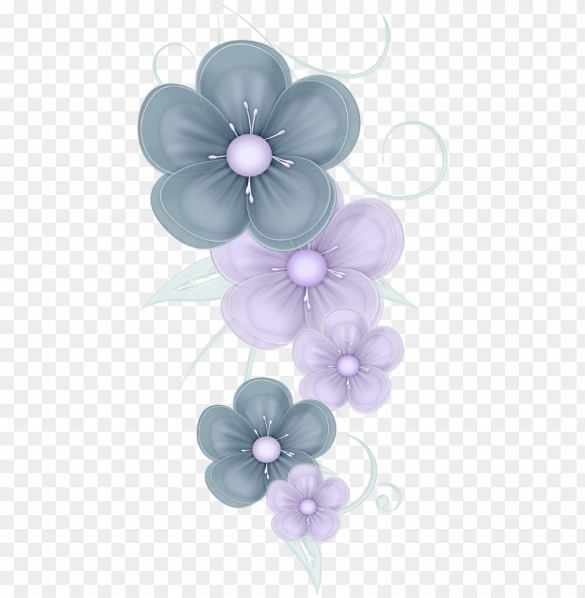 Blue Flowers Png By Pvs Cute Decoration Clipart Png Image With Transparent Background Toppng