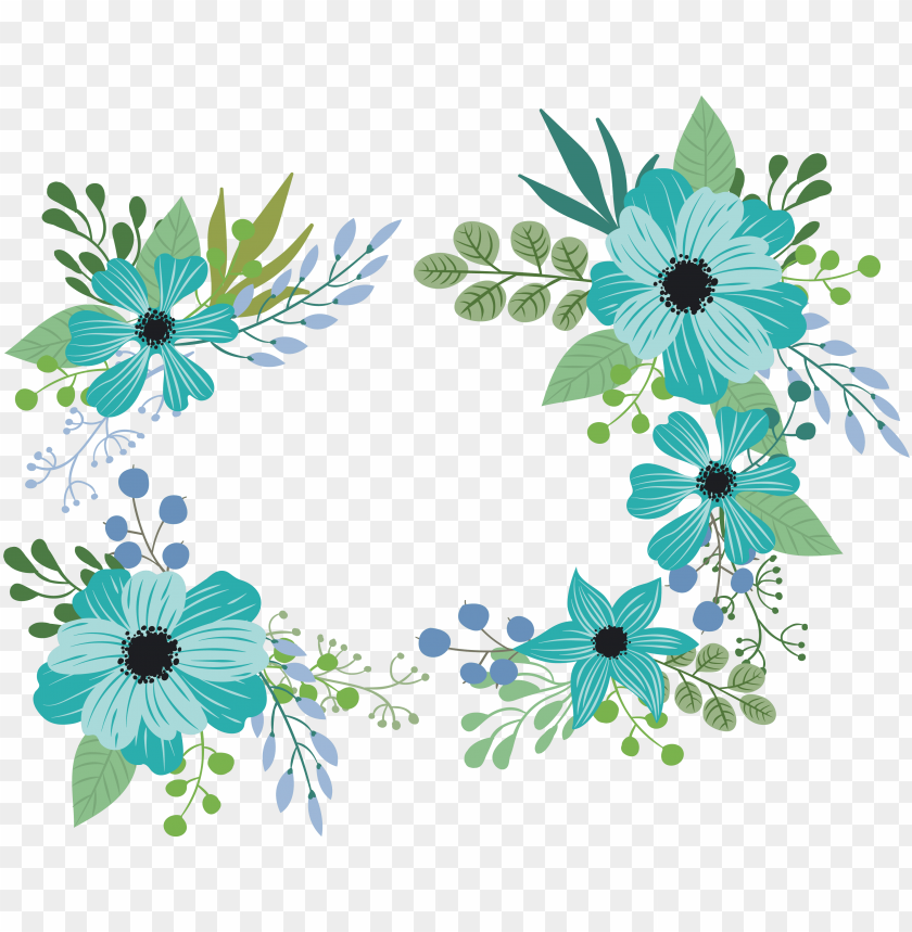 free PNG blue green flower PNG image with transparent background PNG images transparent