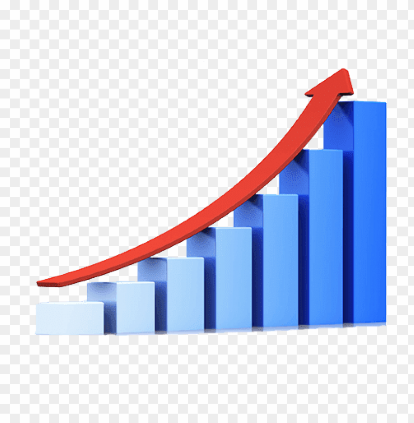 free PNG blue growth graph PNG image with transparent background PNG images transparent