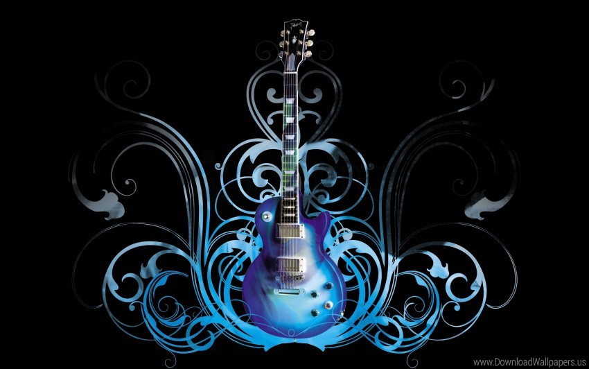 Blue Guitar Pattern Style Wallpaper Background Best Stock Photos Toppng