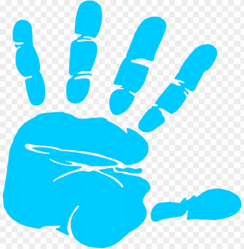 free PNG blue hand print clip art at clker vector clip art online - baby hand prints clipart PNG image with transparent background PNG images transparent