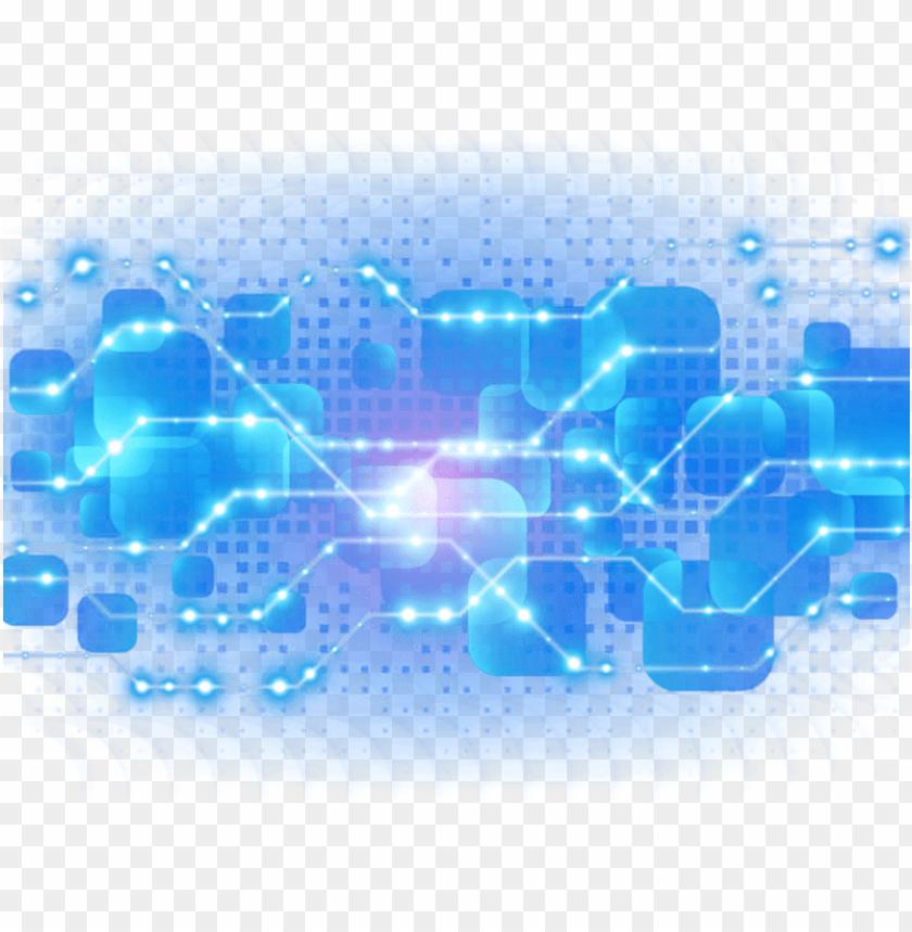free PNG blue light decoration technology effect download hd - digital technology background PNG image with transparent background PNG images transparent