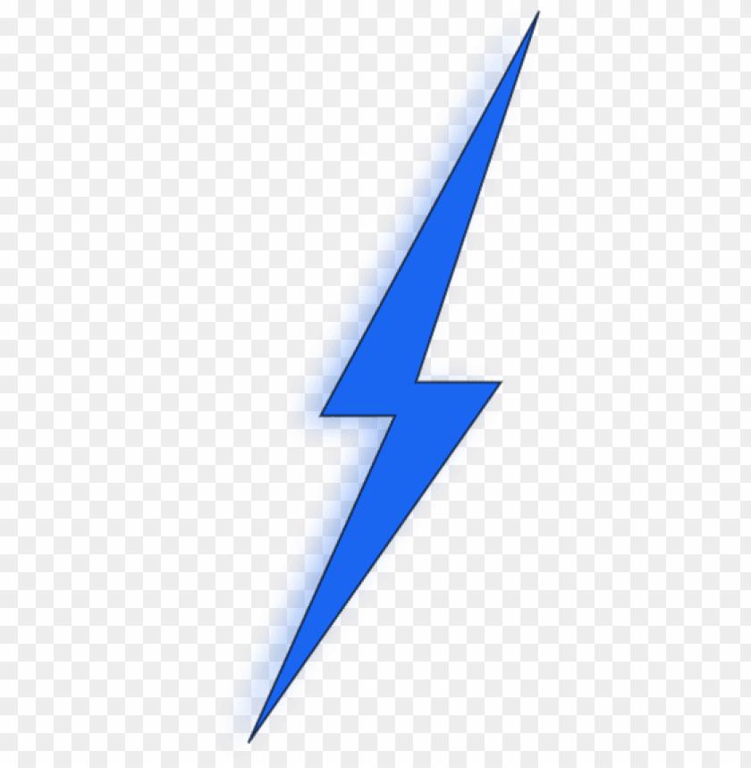 Blue Lightning Bolt Png Image With Transparent Background Toppng