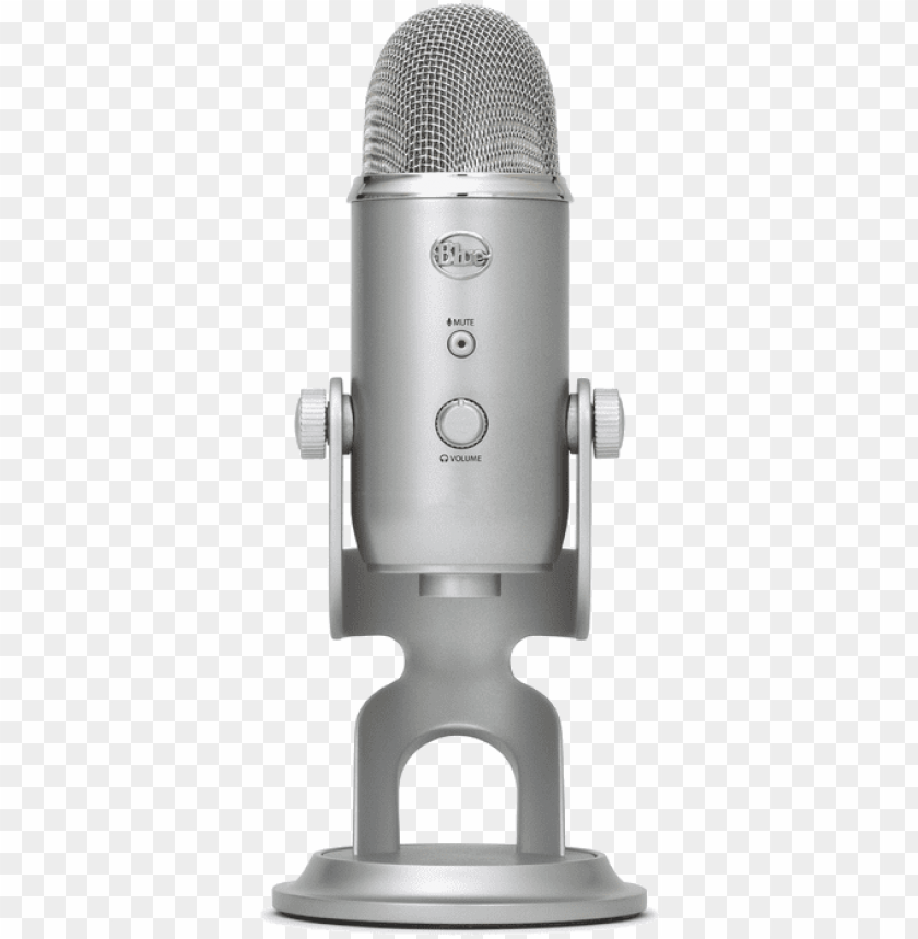 free PNG blue microphones yeti usb microphone - blue microphones yeti - microphone - silver PNG image with transparent background PNG images transparent
