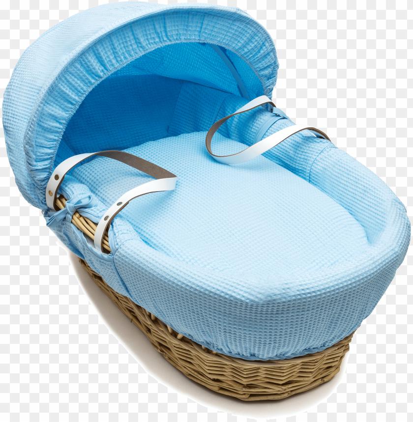 free PNG blue nat wicker moses basket lr - baby basket PNG image with transparent background PNG images transparent