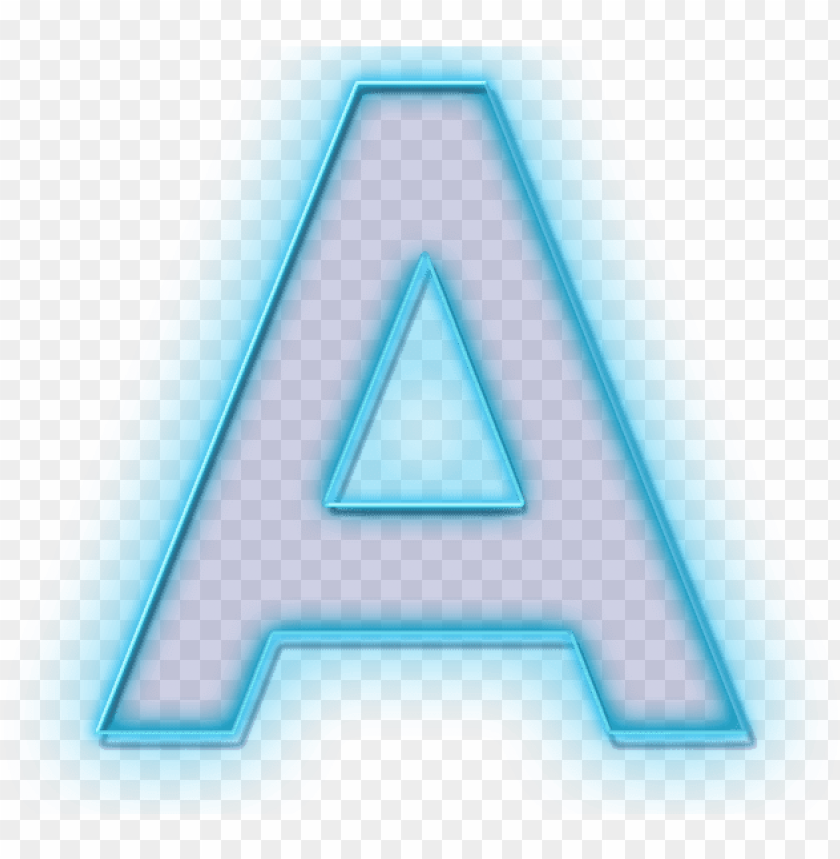 free PNG blue neon letter a - png neon letter PNG image with transparent background PNG images transparent