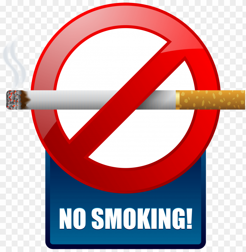 free PNG Download blue no smoking warning sign clipart png photo   PNG images transparent