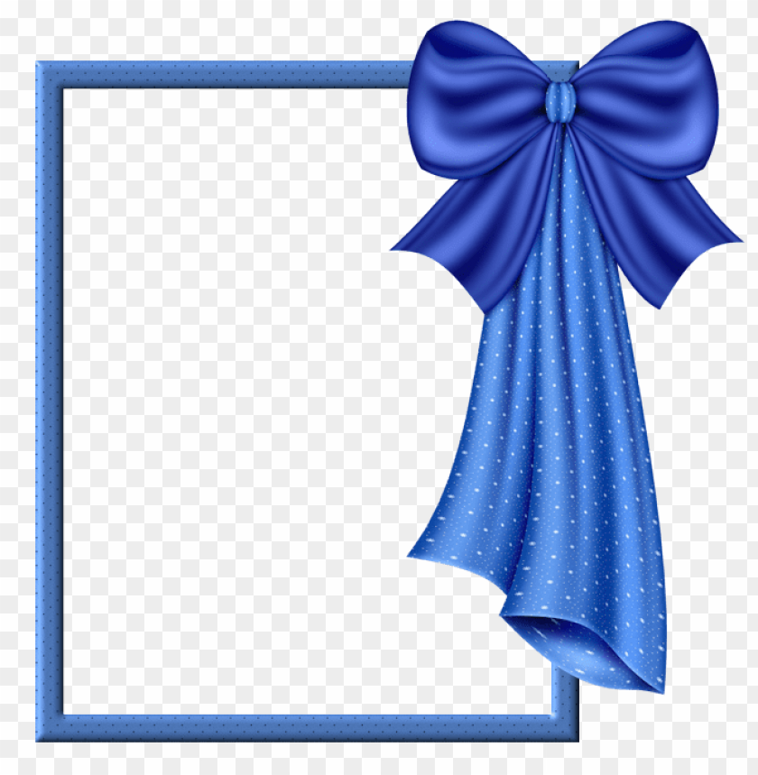 free PNG blue transparent frame with big blue bow background best stock photos PNG images transparent
