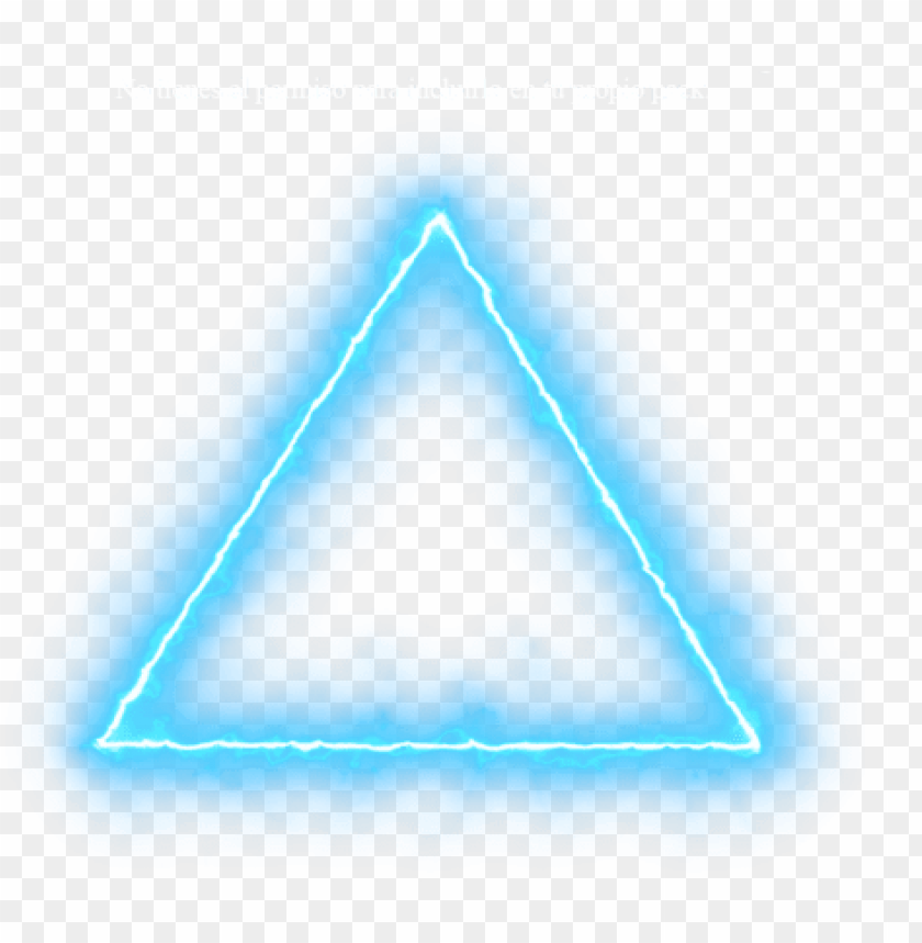 free PNG blue triangle neon lights png neon effect light png - neon triangle png for picsart PNG image with transparent background PNG images transparent