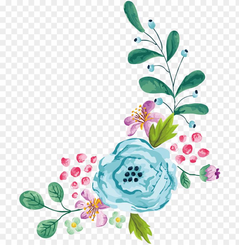 Blue Watercolor Flower Png Watercolor Flower Blue Png