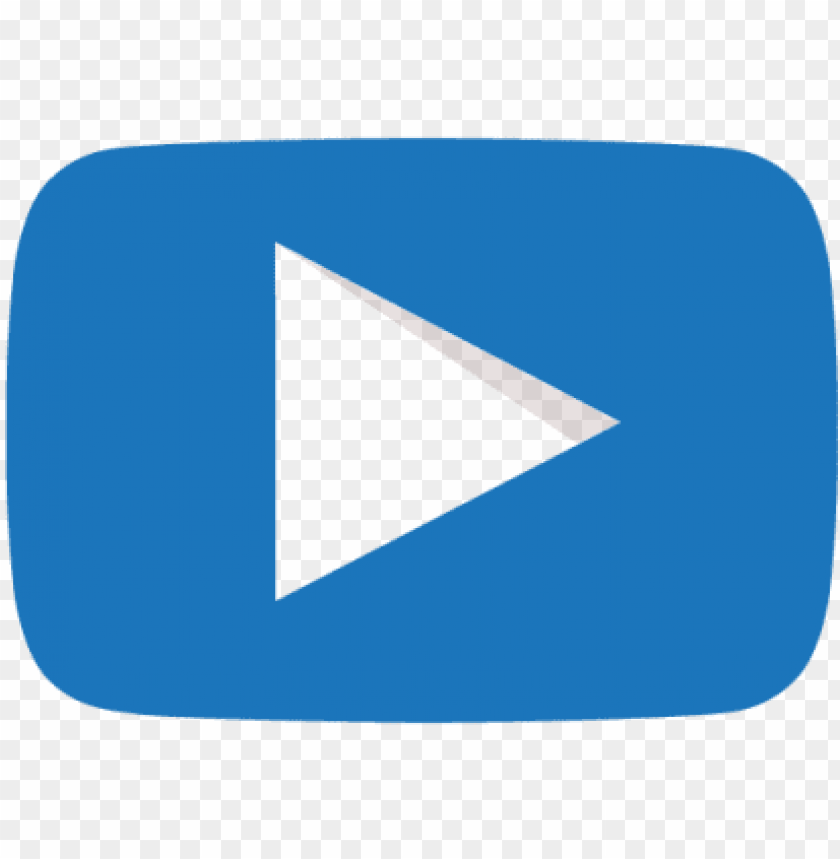 free PNG blue youtube play butto PNG image with transparent background PNG images transparent