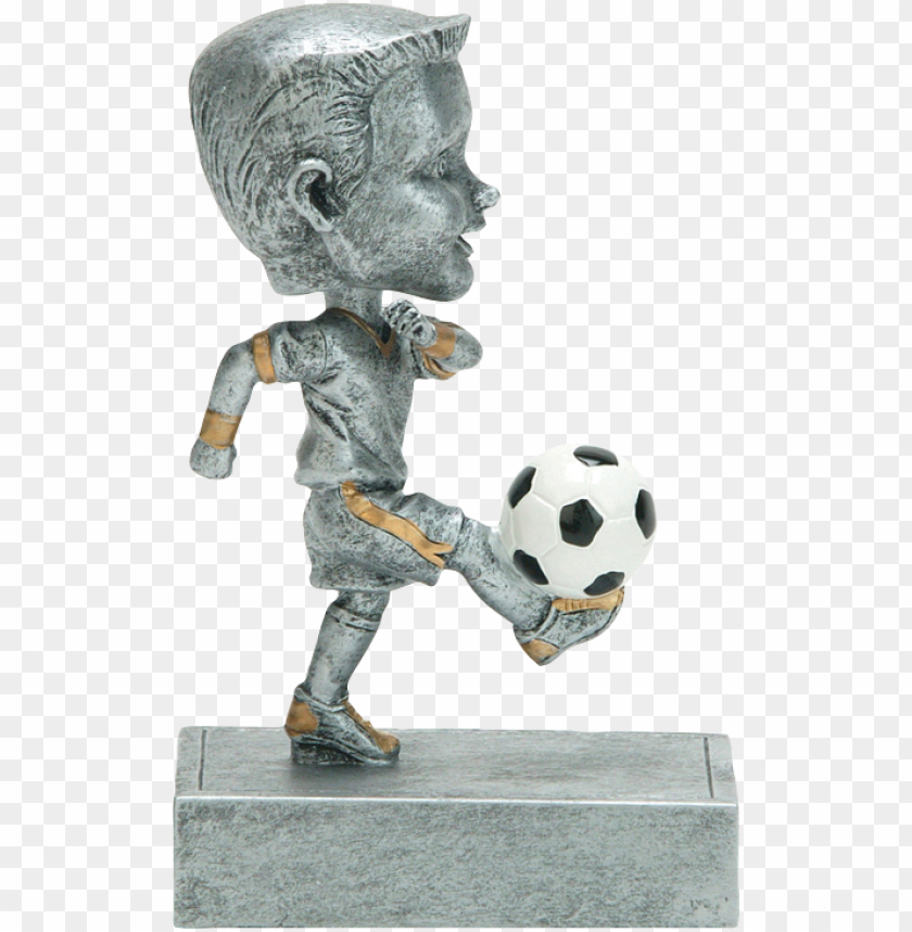 free PNG bobble head - 5 1/2 - youth boy soccer bobblehead trophy PNG image with transparent background PNG images transparent