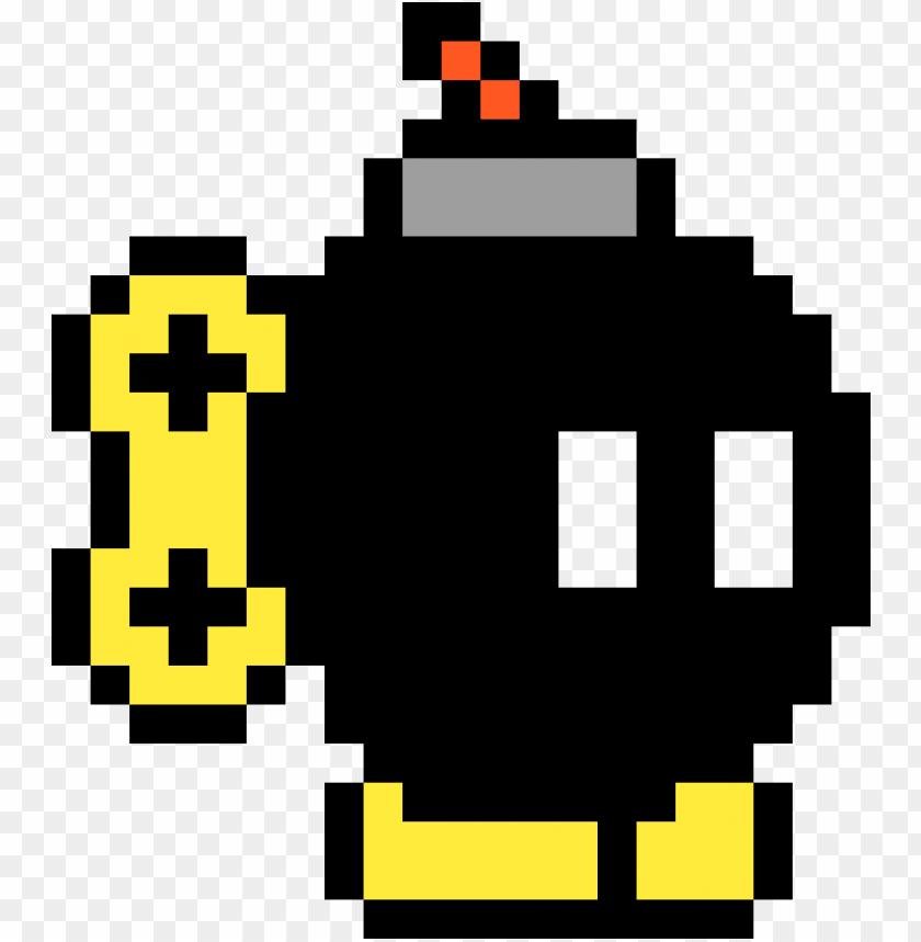 Bomb Omb Bob Omb Pixel Art Png Image With Transparent