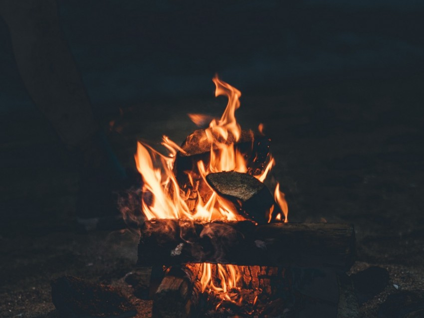 free PNG bonfire, fire, camping, firewood, night background PNG images transparent