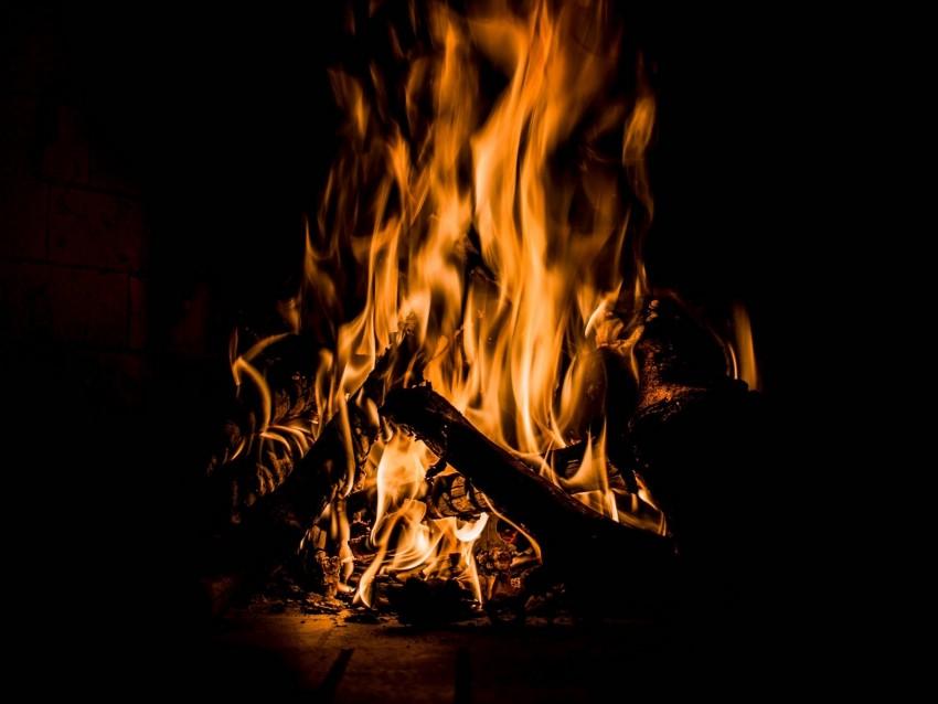free PNG bonfire, fire, flame, burning, dark, firewood background PNG images transparent