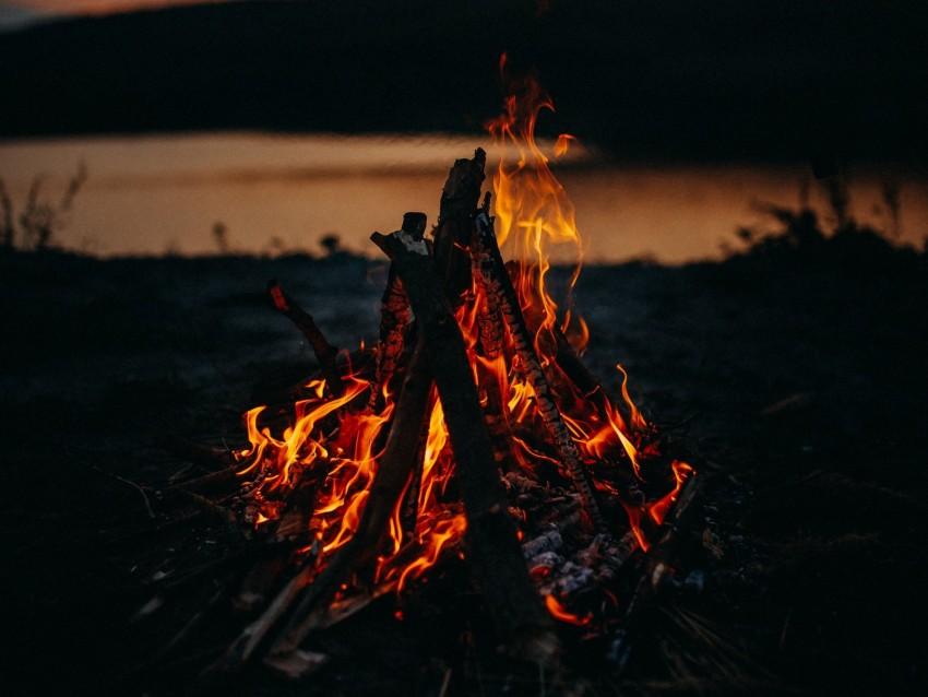 free PNG bonfire, fire, flame, dark, dusk background PNG images transparent