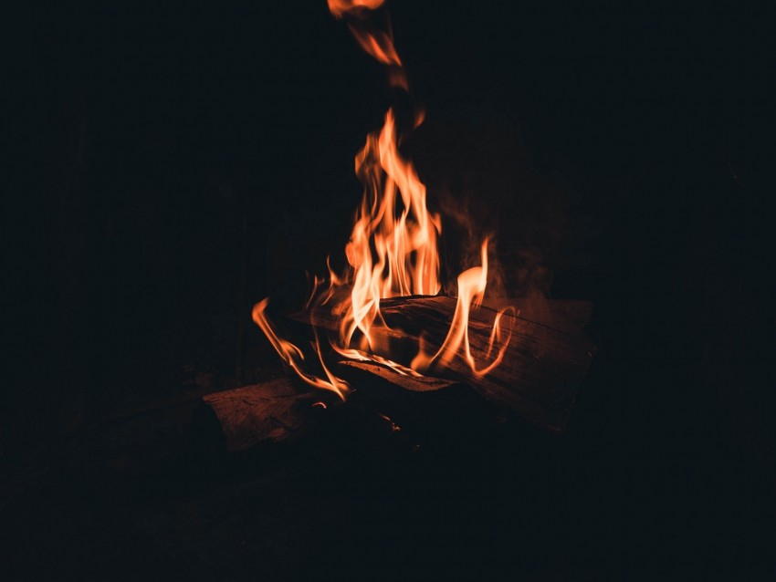 free PNG bonfire, fire, flame, firewood, night, darkness, dark background PNG images transparent