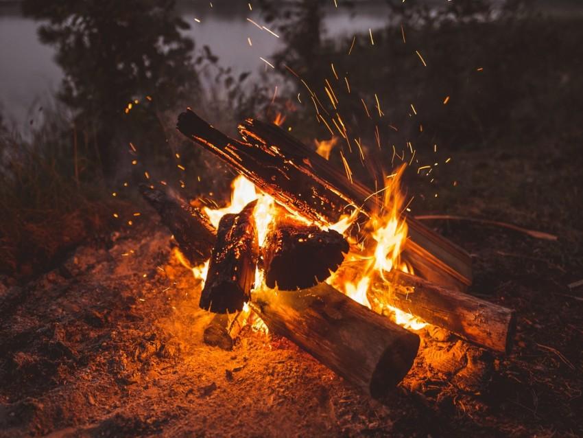 free PNG bonfire, fire, sparks, firewood background PNG images transparent
