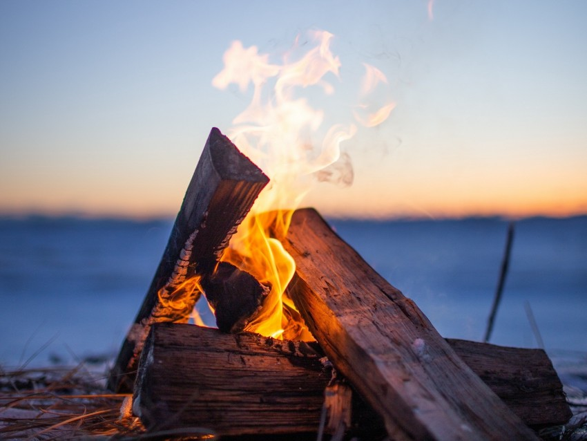 free PNG bonfire, firewood, fire, flame, camping, evening background PNG images transparent