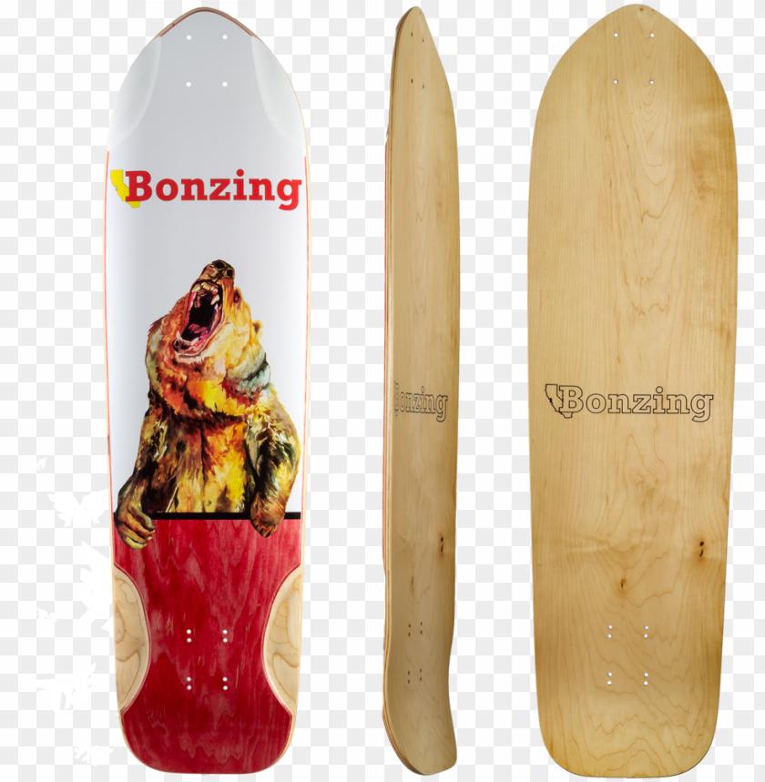 free PNG bonzing grizzly longboard skateboard deck PNG image with transparent background PNG images transparent