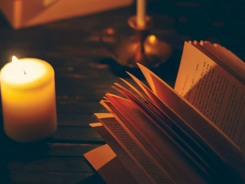 free PNG book, candle, shadows, reading, comfort background PNG images transparent
