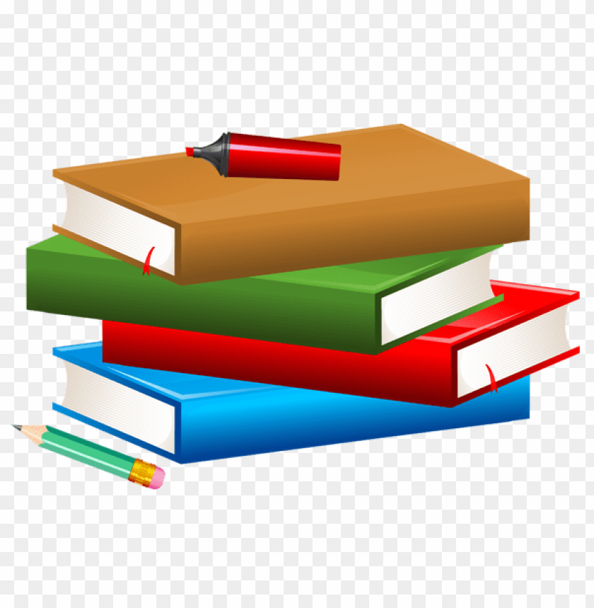 free PNG Download books with pencil and marker clipart png photo   PNG images transparent