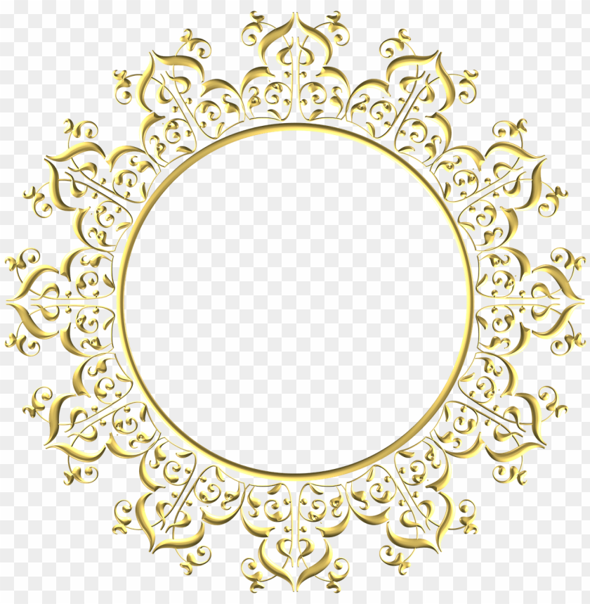 Border Circle Design Png Image With Transparent Background