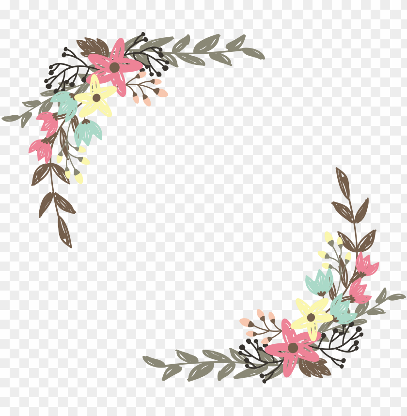 free PNG border flowers clip art graffiti wild flower - wildflower clip art PNG image with transparent background PNG images transparent