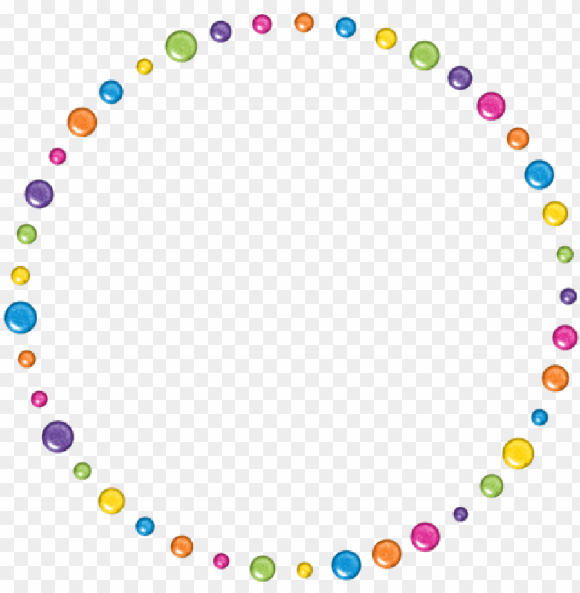 free PNG border frame circle round dots colorful colourful rem - optical illusions lilac chaser PNG image with transparent background PNG images transparent