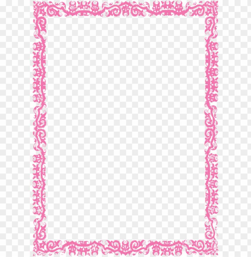free PNG border pink  at clker com vector  online royalty hbfebs png - Free PNG Images PNG images transparent
