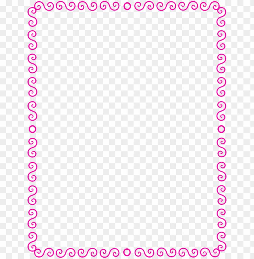 free PNG border pink page frames spiral border s spiral edge s spiral border bphiyd png - Free PNG Images PNG images transparent